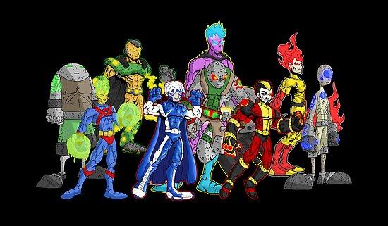 poster I: superheroes/villains by kangarookid