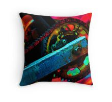 POSTERIZED FIRE Throw Pillow