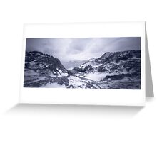 Pinhole Panoramic of Cuckold's Cove, Newfoundland Greeting Card