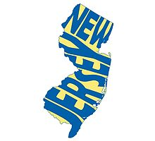 New Jersey State Word Art by surgedesigns