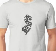 New Jersey State Word Art Unisex T-Shirt
