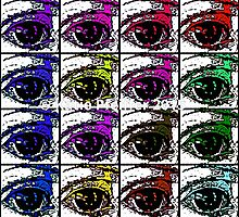 Multi  Pop Evil Eyes by Kater