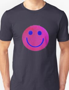 Pink Smiley Face Unisex T-Shirt