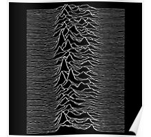 Pulsar waves - Black&White Poster
