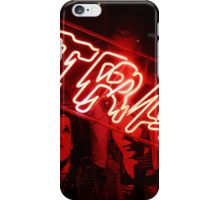 "Red neon light sign of a store called ""Trash"" in the Lower East Side  iPhone Case/Skin"