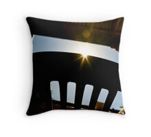 Bright morning. Throw Pillow
