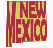 New Mexico State Word Art Kids Clothes
