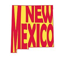 New Mexico State Word Art by surgedesigns