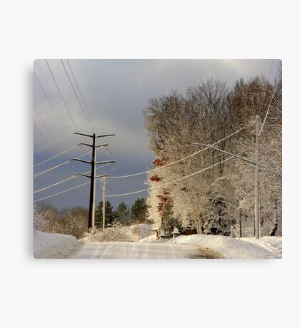 Wired for Snow Canvas Print
