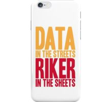 STAR TREK TNG The Next Generation Captain Riker Data iPhone Case/Skin