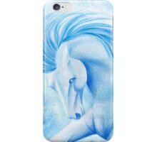 Aquamarine Horse Watercolor Painting iPhone Case/Skin