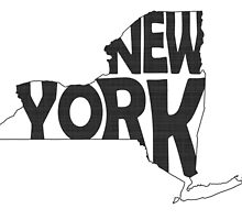New York State Word Art by surgedesigns