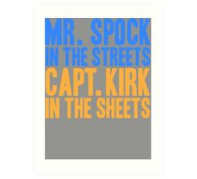 STAR TREK ORIGINAL  Mr. Spock Captain Kirk William Shatner Leonard Nimoy Art Print