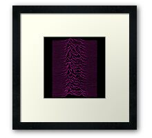 Pulsar waves - White&Pink  Framed Print