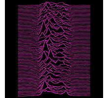 Pulsar waves - White&Pink  Photographic Print