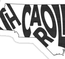North Carolina State Word Art Sticker