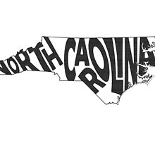 North Carolina State Word Art by surgedesigns