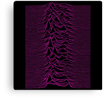 Pulsar waves - Black&Pink Canvas Print