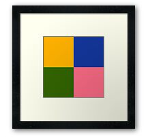 Yellow Green Blue Pink Framed Print
