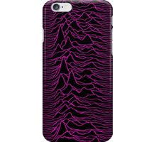Pulsar waves - Black&Pink iPhone Case/Skin