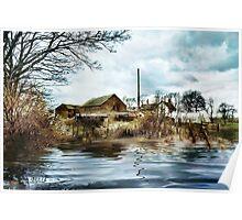 farmhouse flood Poster