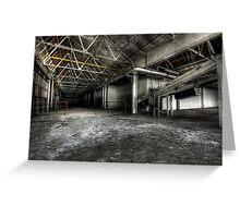 Production floor Greeting Card