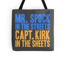 STAR TREK ORIGINAL  Mr. Spock Captain Kirk William Shatner Leonard Nimoy Tote Bag