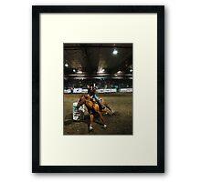Barrel Ridin' Framed Print