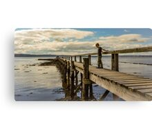 Playing on the Pier Canvas Print