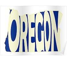 Oregon State Word Art Poster