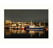 Dark and Light - Baltimore, West Cork after the passing of a front Art Print