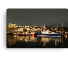 Dark and Light - Baltimore, West Cork after the passing of a front Canvas Print
