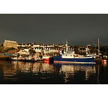 Dark and Light - Baltimore, West Cork after the passing of a front Photographic Print