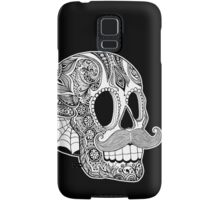 Mustache Sugar Skull (Black & White) Samsung Galaxy Case/Skin