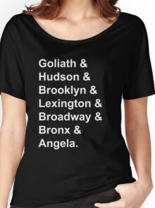 Gargoyles White Font Women's Relaxed Fit T-Shirt