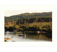 Lonesome boatmen - Dunboy Harbour, West Cork Art Print