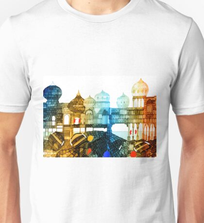 Seaside Turrets and Castles by the Sand Unisex T-Shirt