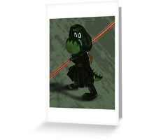Darth Yoshi Greeting Card