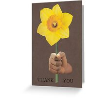 Thank You (daffodil) Greeting Card