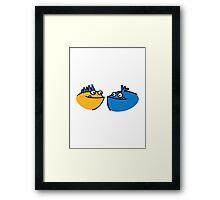 Cute funny monster Framed Print