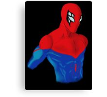 Spider-Man Alternative Suit Design Bust Canvas Print