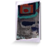 Piece 3 rectangle red Greeting Card