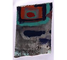 Piece 3 rectangle red Photographic Print
