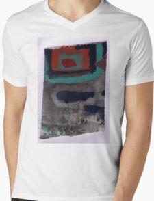 Piece 3 rectangle red Mens V-Neck T-Shirt