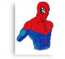 Spider-Man Alternative Suit Design Bust (White) Canvas Print