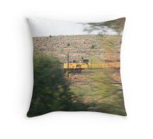 Train Blurr Throw Pillow