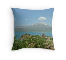 Akdamar Island Throw Pillow