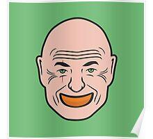 John Locke - Orange In Mouth - Lost Poster