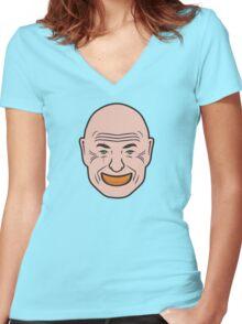 John Locke - Orange In Mouth - Lost Women's Fitted V-Neck T-Shirt