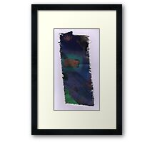 Piece 7 rectangle green. Framed Print